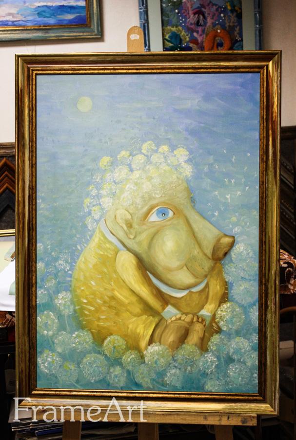 """Картина """"Бабушка Ёжик"""", художник Мария Чернина"""