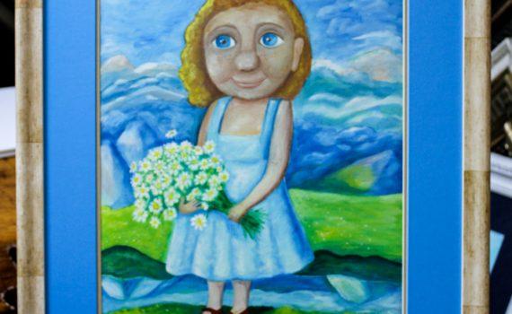 """Картина """"Галя в Montenegro"""", работа художника Марии Черниной"""